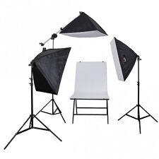 Aufnahmetisch-Set AT-5070-3, 3x150 W mit Fototisch Galgenstativ Studio-Tisch