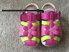 toddler girl Stride Rite Sandals - Yellow/Pink Size 6
