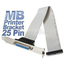 Parallel LPT Printer Port Bracket to Motherboard 25 Pin Female Cable Adapter PC