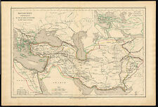 Antique map-HISTORICAL-MONARCHY-DARIUS-CYRUS-ALEXANDER-Drioux-Leroy-1854