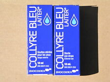 20% OFF sent from California~2 PACK ORIGINAL LAITER COLLYRE BLEU eye drops NEW