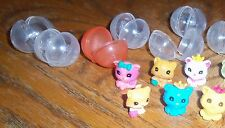 Squinkies Squishy Cats Lot of 9 + bubbles