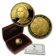 2010-W 1/2 oz Proof Gold Abigail Fillmore Coin - Box and Certificate - SKU#59530