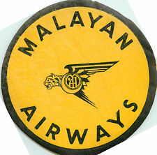 MALAYAN AIRWAYS - Historic & Scarce Pre-MALAYSIA Airline Luggage Label, 1946