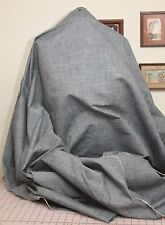"Cotton Linen Blend Blue Chambray Fabric Apparel Home Decor 46"" to 60"" Wide BTY"