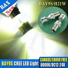 2X H21W BAY9s LED AC12V-24V CREE CanBus ERROR FREE Car Bulbs WHITE fit ALFA AUDI