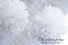 12 papier absorbant pompons SET - 3 TAILLES-fête de mariage décorations-Multi color