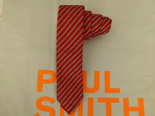 PAUL SMITH Slim X15 Tie Exquisite Stripe Red 6cm BLADE Silk Long Ties BNWT RP£80