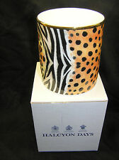 HALCYON DAYS FINE BONE CHINA PEN PENCIL CANDLE HOLDER POT MAGNIFICENT WILDLIFE