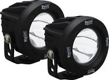 Vision X OPTIMUS ROUND BLACK 1 10W LED Lights PAIR 10 Degree Spot w/ Harness 4x4
