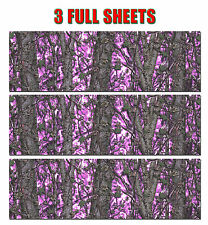 3 GIRL CAMO DECAL MADE FROM 3M WRAP VINYL 48x15 MUDDY PRINT DUCK BLIND HOT PINK