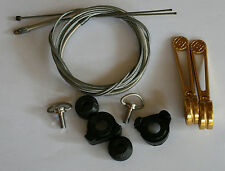 Cambio Rino Down Tube Shifters Colour Gold - NOS