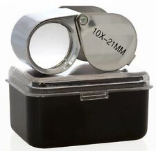 New 10x 21mm Jewelers Loupe Magnifying Glass * FREE US SHIPPING *