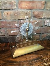 Vintage Mid Century MASTERCRAFTERS Starburst Lighted Mantel Clock EAMES ERA