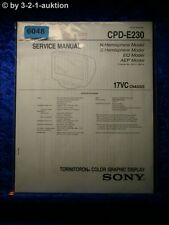 Sony Service Manual CPD E230 Graphic Display (#6048)