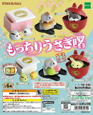 Miniatures Rabbit With Japanese Sweets NEW COLOR 6pcs - Epoch , h#19