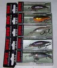 5 RAPALA ULTRA LIGHT SHAD ULS-4, ULS04, GREAT COLORS, FINESSE SINKING LURE #2