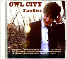 Owl City 'Fireflies' 1-Track HONG KONG 2009 Promo CD w/ Insert - Crazy Rare!