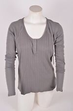 2016 NWT WOMENS VOLCOM LIVED IN HENLEY $35 S gunmetal long sleeve snap