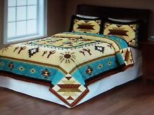 New QUEEN Size Quilt & Shams  ** Southwest Print Adobe