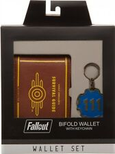 Fallout Vault 111 Gift Box Set Bifold Wallet and Keychain, (Merchandise)