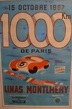 Montlhery 1000 km 1967 Originale poster incorniciato