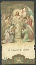 Estampa antigua La Resureccion de Jesus andachtsbild santino holy card santini