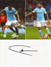 MAN CITY* GAEL CLICHY SIGNED 6x4 WHITECARD+2 UNSIGNED PHOTOS+COA