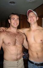 Shirtless Male Muscular Hunks Beefy Hairy Chest Abs Dudes Smiling PHOTO 4X6 C850