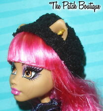 MONSTER HIGH 13 WISHES HOWLEEN WOLF DOLL OUTFIT REPLACEMENT BLACK HAT BEANIE CAP