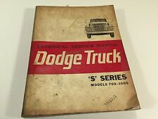 1963 Dodge Truck Technical Service Manual S Series Models 700-1000