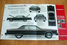 1975 LINCOLN CONTINENTAL COUPE UNIQUE IMP BROCHURE