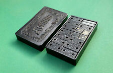 1950s USSR Soviet Russia POCKET Game DOMINOES in BAKELITE Box from Tbilisi