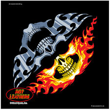 Dual Skull Faces Flames and Tribal Flames Design Bandana #1013