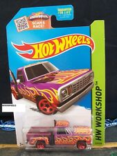HOT WHEELS 2015 #215 -1 78 DODGE LIL RED EXPRESS TRUCK MAGENTA AMER WORK