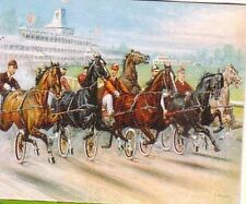 Horseracing Trading Card A Dash for the Pole Famous Trotting horses of the 1800s
