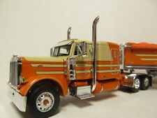 DCP 1/64 SCALE 379 PETERBILT FLAT TOP (McCORD) WITH WILSON GRAIN TRAILER #33346