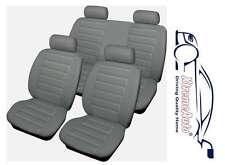 Bloomsbury gris con aspecto de cuero 8 Pce asiento de coche de Cubiertas para BMW 3, 4,5, Serie 6