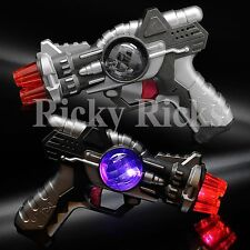 LED Space Toy Gun Light-Up Pistol Flashing Multi-Color & Sound Effects Blinking
