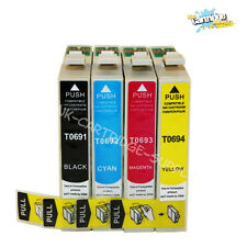 4PK 69 T069 Ink for Epson WF 30 500 600 610 615 1100 Stylus CX7000F CX7400