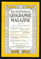NATIONAL GEOGRAPHIC MAGAZINE JULY 1958 Atlas Links Roman And Atomic Times