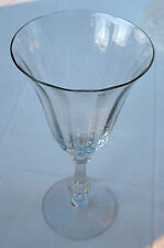 FOSTORIA 6014 REGULAR RIB OPTIC CRYSTAL WATER GOBLET  L@@K