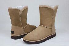 Ugg Classic Cuff Short Natural Suede Sheepskin Women Boot Size 8.5 US