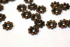 150pc Antique Bronze Flower Bead Caps 8mm 1-3 day Shipping