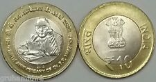 INDIA 10 RUPEES 125th BIRTH ANIVARSARY OF Dr.B.R.AMBEDKAR 4 UNC COINS