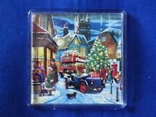 CHRISTMAS STREET FRIDGE MAGNET (KW)