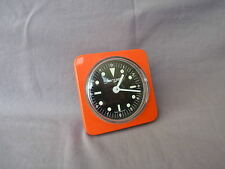 alter oranger jerger Wecker Made in Germany Metallgehäuse vintage alarm clock