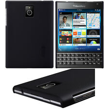For BlackBerry Passport Black Matte Hard Skin Case Cover With Screen Protective