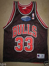 Scottie Pippen #33 Chicago Bulls NBA Champion Black Reverse Jersey 40 Medium NEW