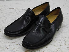 Bally Mens Black Leather Loafers Shoes  Size 9 M  minty